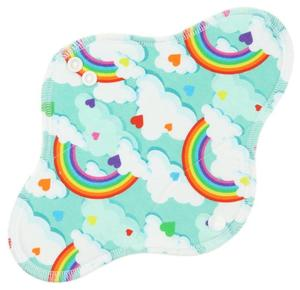 Rainbow hearts Menstrual pad with fleece