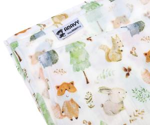 Forest animals - 135x135 cm (1 pc) Muslin square