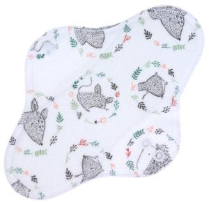 Forest animals (velour) Menstrual pad with fleece