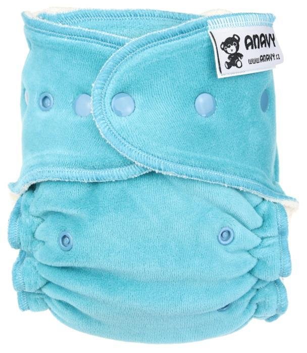 Dark mint Fitted diaper with snaps
