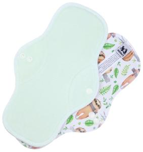 Light mint/Sloths Menstrual pad with PUL