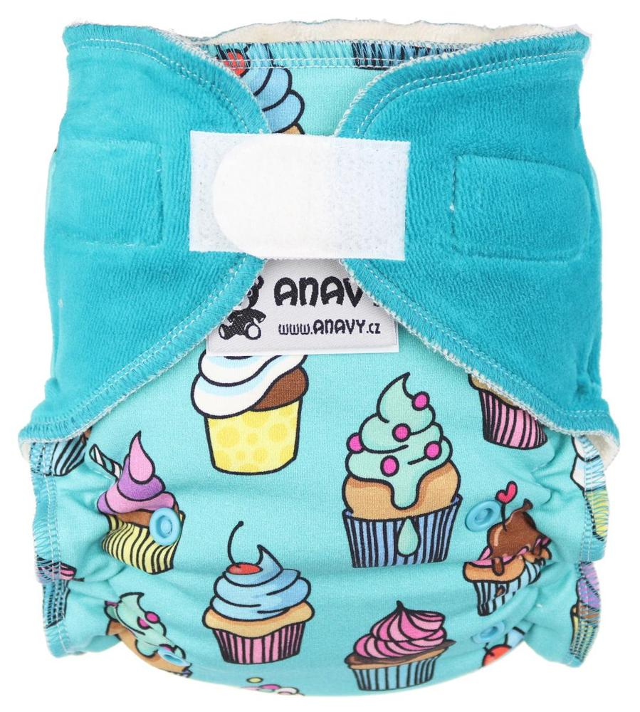 Cupcakes Fitted diaper with velcro