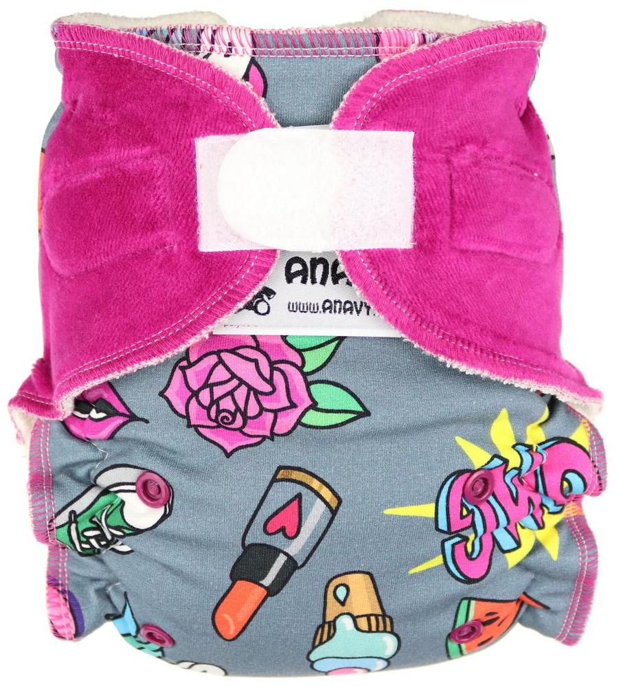 OMG (girl) Fitted diaper with velcro