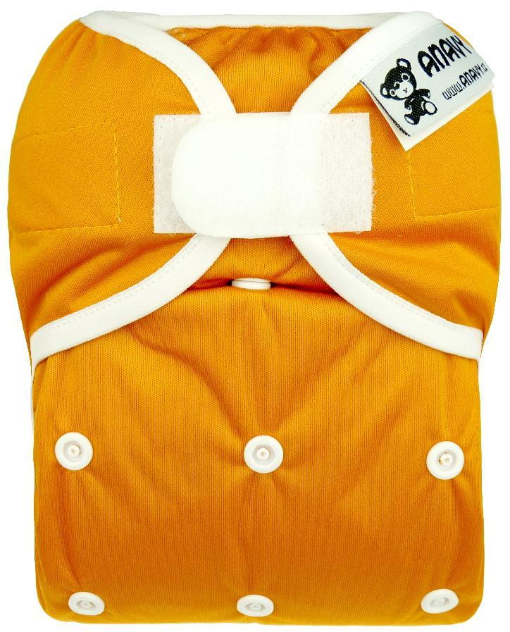 Pumpkin PUL diaper cover with velcro