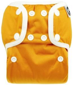 Pumpkin PUL diaper cover with snaps
