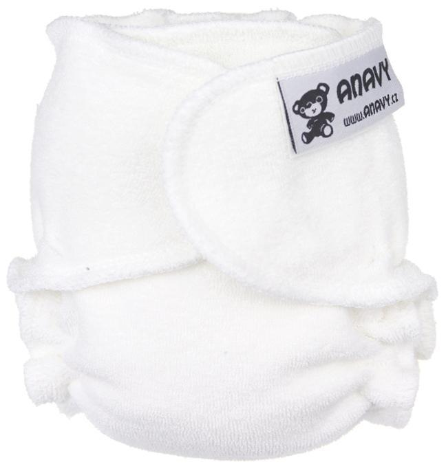 White Fitted diaper snapless