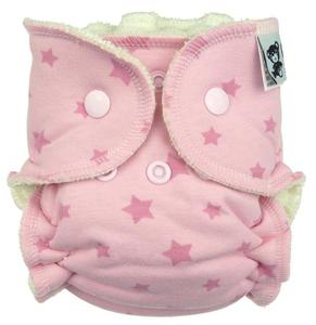 Stars (pink) Fitted diaper with snaps