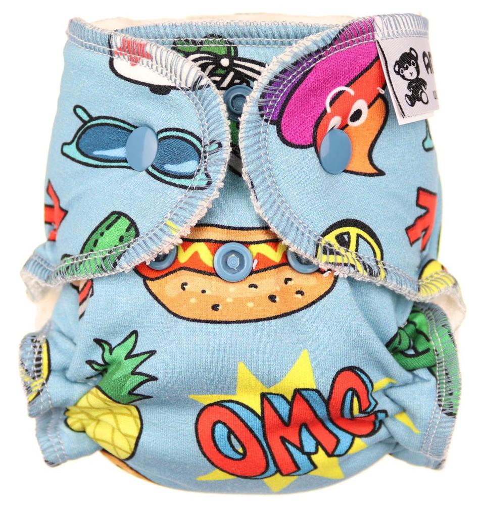 OMG (boy) Fitted diaper with snaps