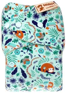 Sloths and toucans Wool diaper cover with snaps