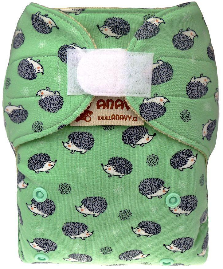 Hedgehogs (light green) Wool diaper cover with velcro