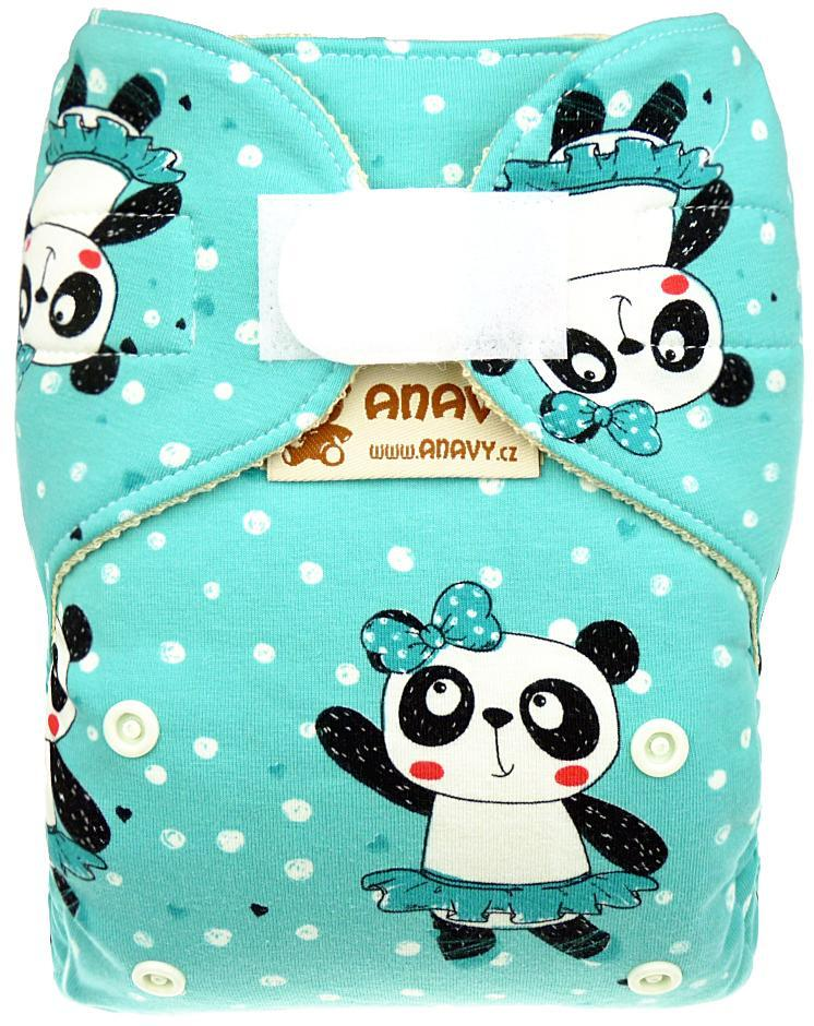 Panda dancer Wool diaper cover with velcro