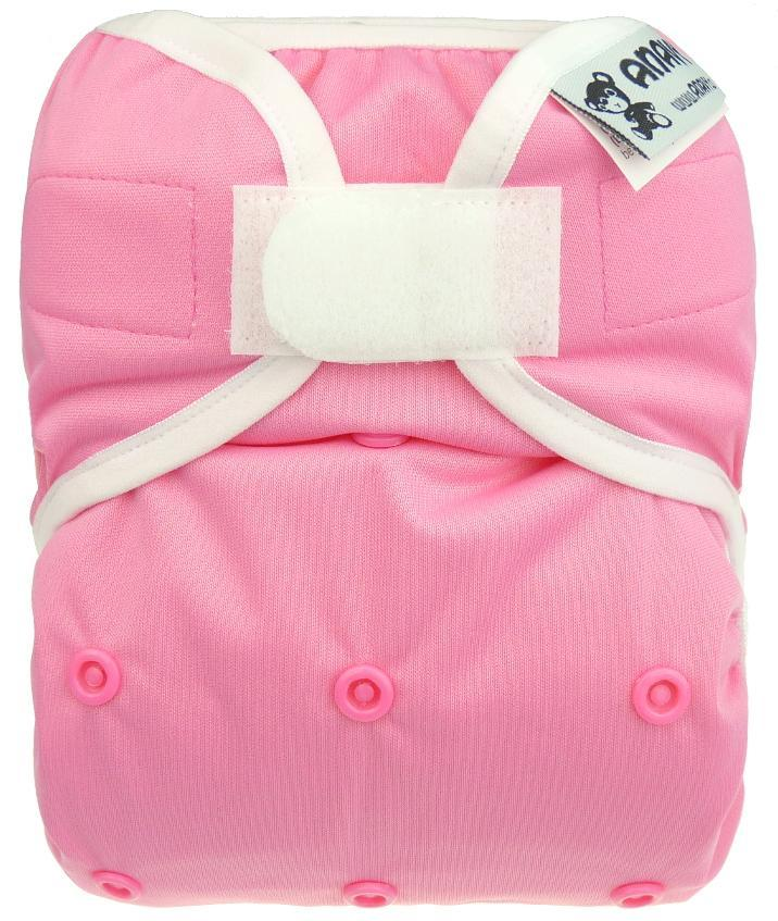 Candy Floss PUL diaper cover with velcro