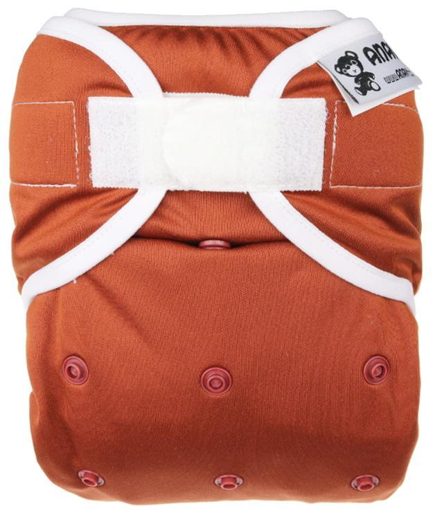 Chocolate PUL diaper cover with velcro