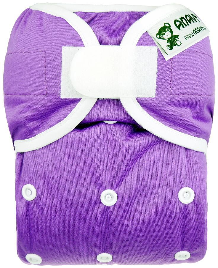 Violet PUL diaper cover with velcro