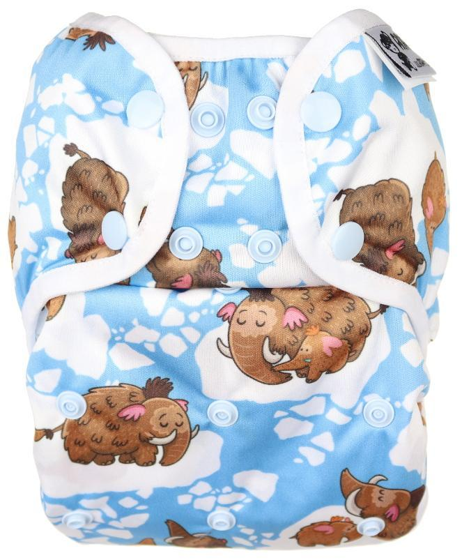 Mammoths PUL diaper cover with snaps
