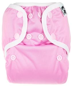 Candy Floss PUL diaper cover with snaps