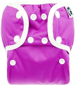 Fuchsia PUL diaper cover with snaps
