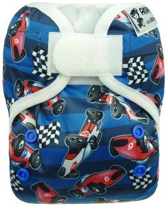 F1 Cars PUL diaper cover with velcro