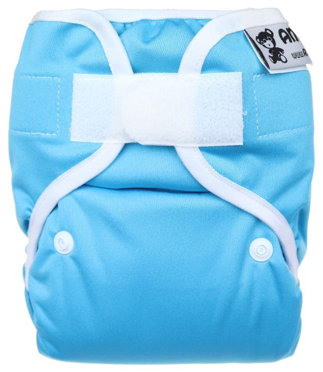 Turqoise PUL diaper cover with velcro