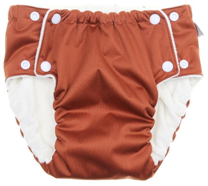 Chocolate Potty training pants with snaps