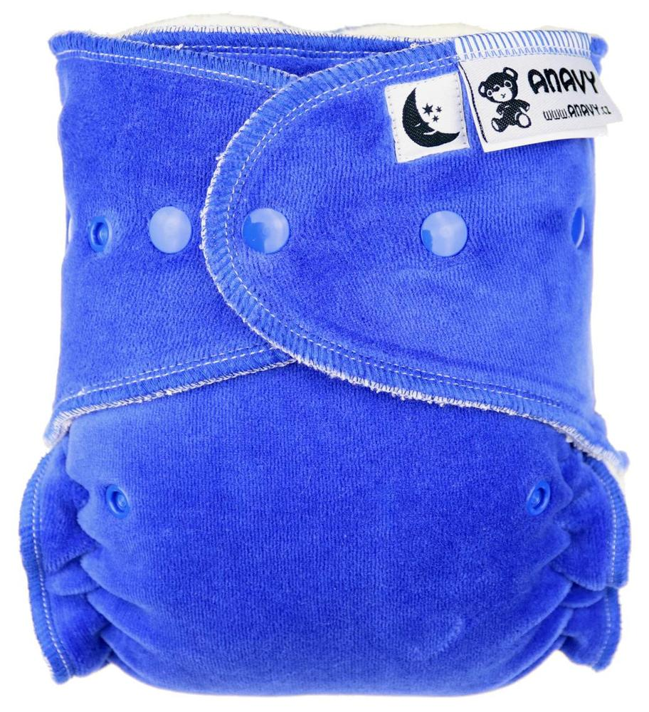 Blueberry Fitted diaper with snaps