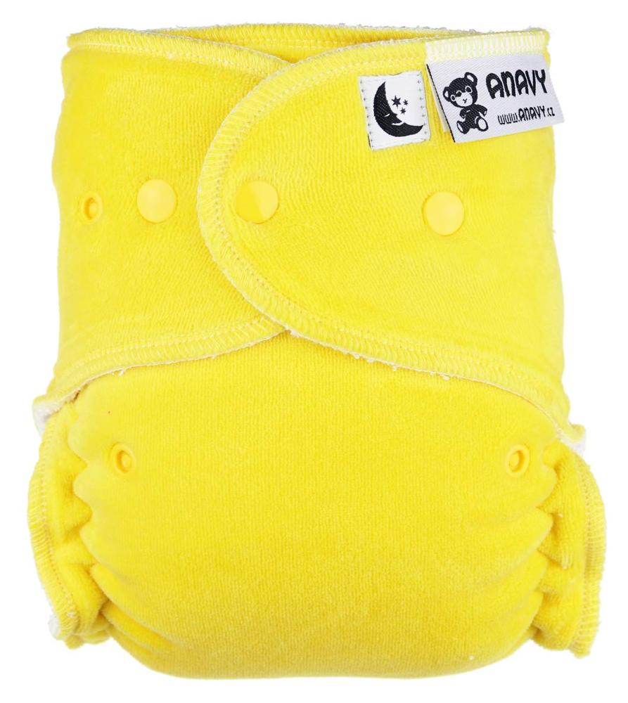 Lemon Fitted diaper with snaps