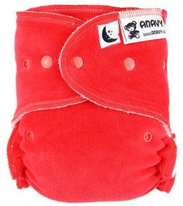 Strawberry Fitted diaper with snaps