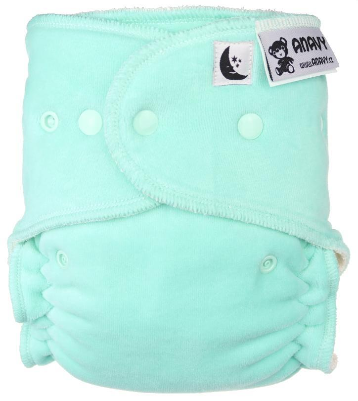 Mint Fitted diaper with snaps