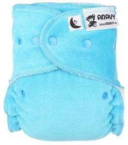 Turquoise Fitted diaper with snaps