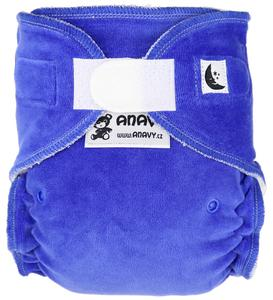 Blueberry Fitted diaper with velcro