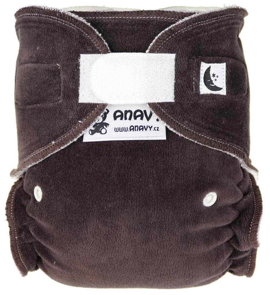 Dark brown Fitted diaper with velcro