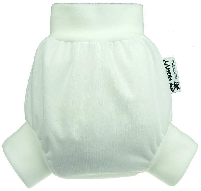White PUL diaper cover pull-up