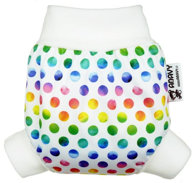 Rainbow circles PUL diaper cover pull-up