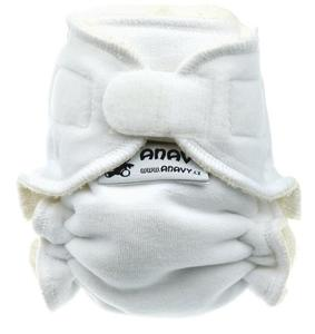 White Fitted diaper with velcro