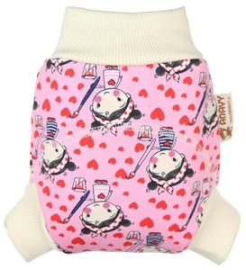 Painting girl Wool diaper cover pull-up