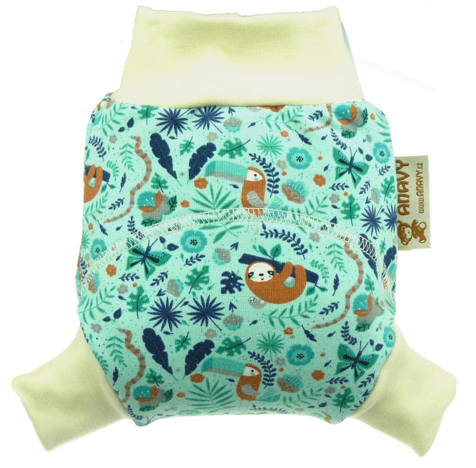 Sloths and toucans Wool diaper cover pull-up
