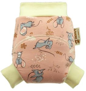 Mice (pink) Wool diaper cover pull-up