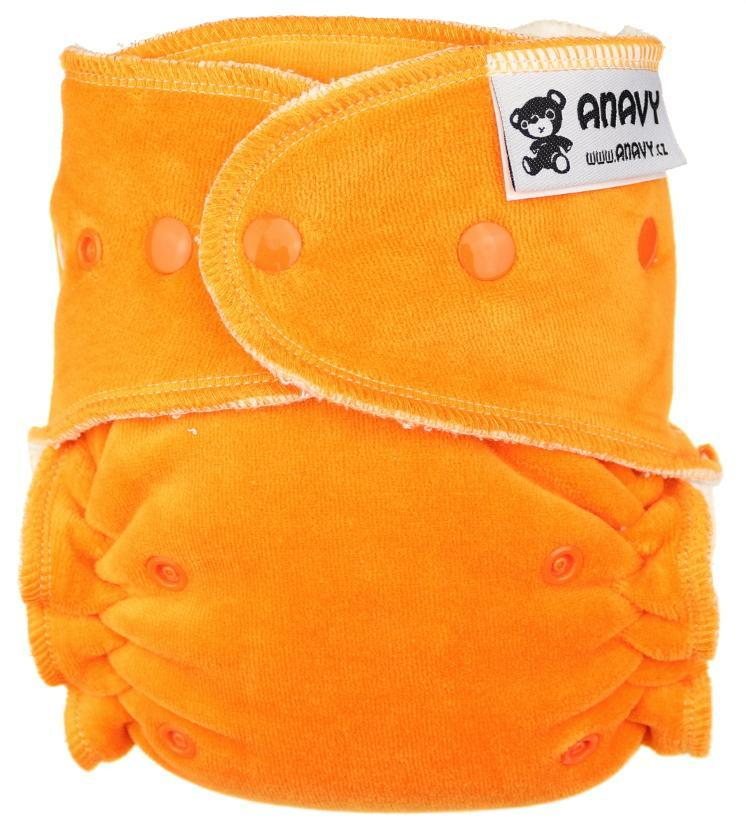Carrot Fitted diaper with snaps