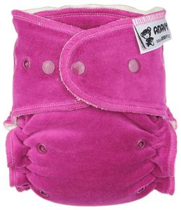 Blackberry Fitted diaper with snaps