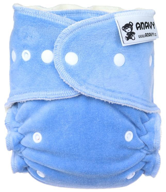 Periwinkle Fitted diaper with snaps
