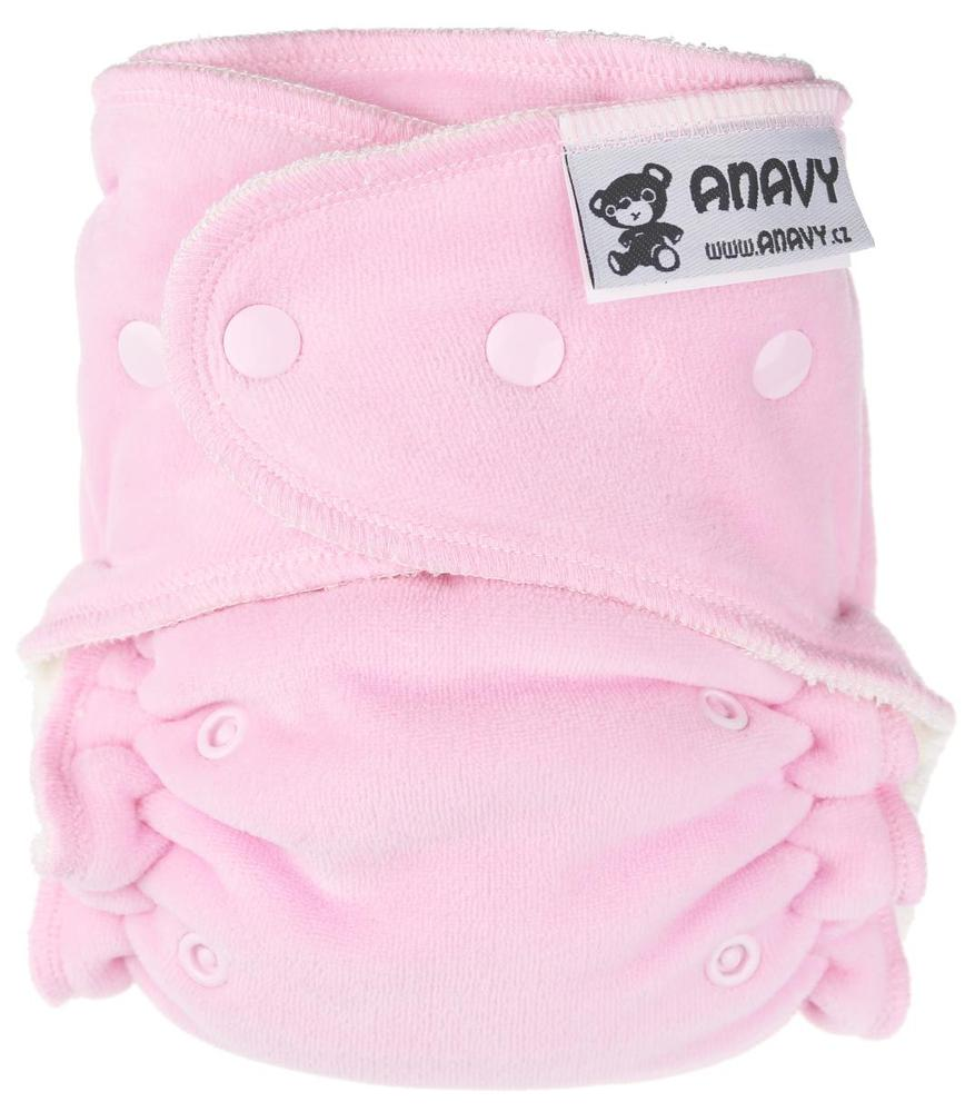 Pink Fitted diaper with snaps