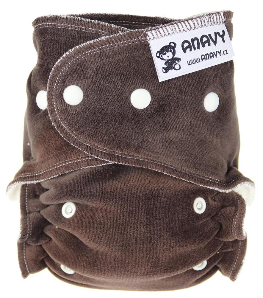 Dark brown Fitted diaper with snaps