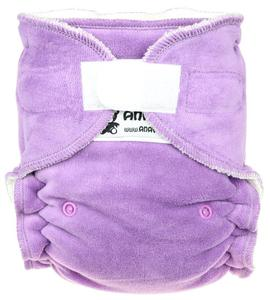 Lavender Fitted diaper with velcro