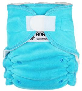 Turquoise Fitted diaper with velcro
