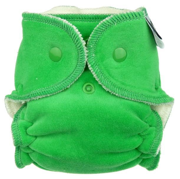 Pine Fitted diaper with snaps