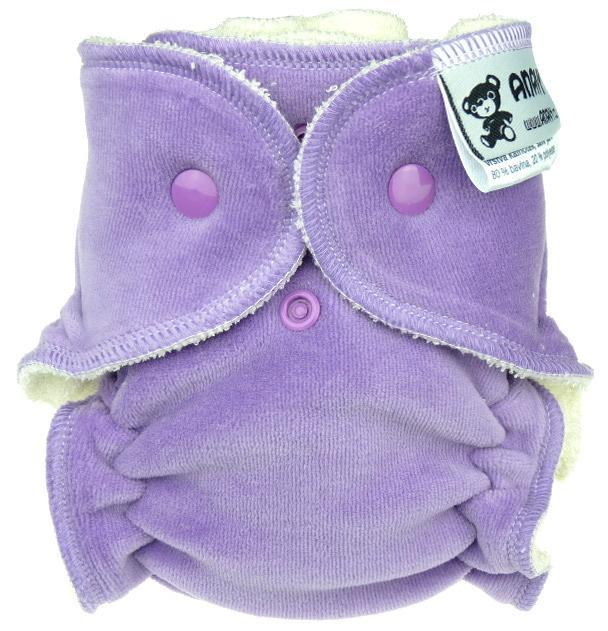 Lavender Fitted diaper with snaps