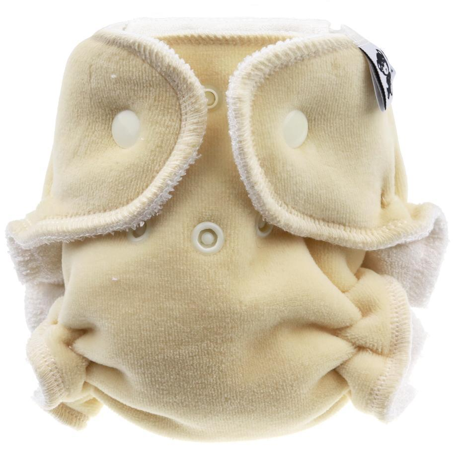 Sand Fitted diaper with snaps