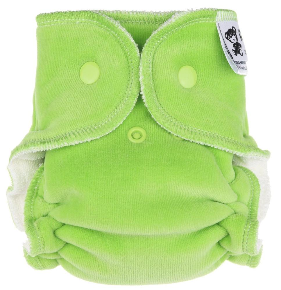 Grass Fitted diaper with snaps