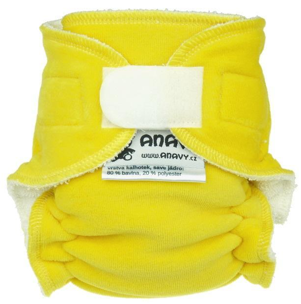 Lemon Fitted diaper with velcro