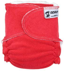 Red Fitted diaper snapless